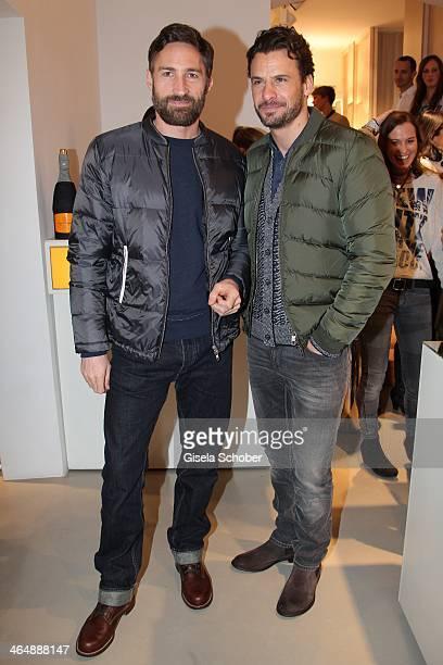Benjamin Sadler Stephan Luca attend 'Clicquot in the Snow' on January 24 2014 in Kitzbuehel Austria