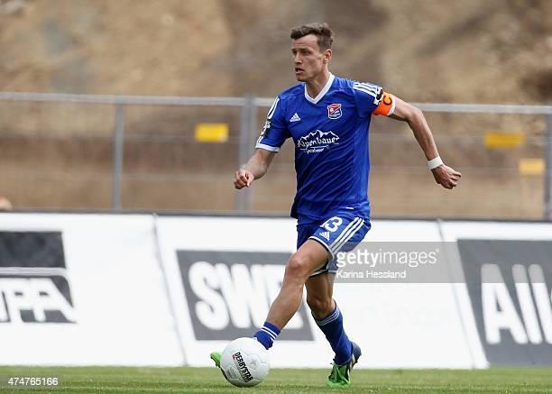 Benjamin Schwarz of Unterhaching during the Third League match between FC Rot Weiss Erfurt and SpVgg Unterhaching at Steigerwaldstadion on May 23...