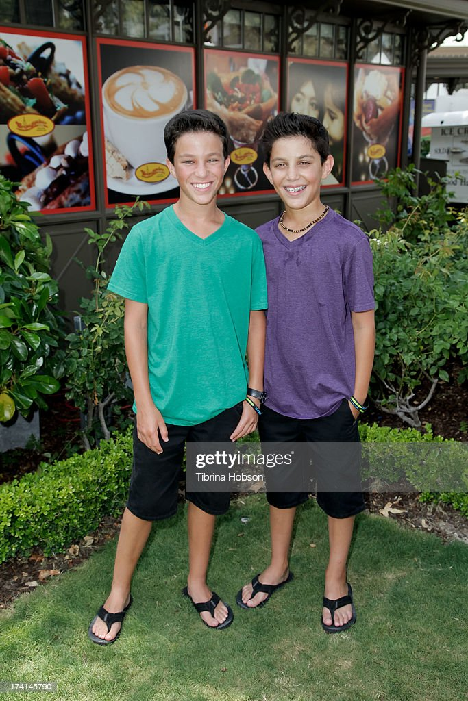 Benjamin Sharp and Kyle Sharp attend at the 'Wee Rock!' concert and benefit for the Children's Hospital of Los Angelesat at The Americana at Brand on July 20, 2013 in Glendale, California.