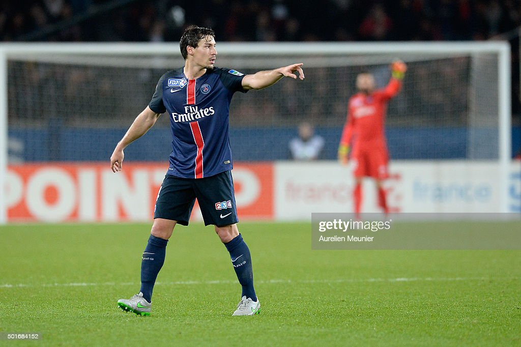 <a gi-track='captionPersonalityLinkClicked' href=/galleries/search?phrase=Benjamin+Stambouli&family=editorial&specificpeople=7133311 ng-click='$event.stopPropagation()'>Benjamin Stambouli</a> of Paris Saint-Germain runs reacts during the French League Cup game between Paris Saint-Germain and AS Saint Etienne at Parc des Princes on December 16, 2015 in Paris, France.
