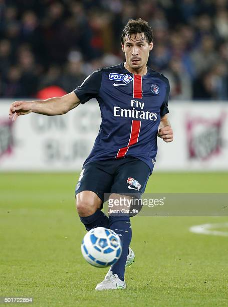 Benjamin Stambouli of PSG in action during the French League Cup match between Paris SaintGermain and AS SaintEtienne at Parc des Princes stadium on...
