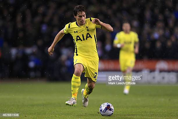 Benjamin Stambouli of Spurs in action during the Capital One Cup SemiFinal Second Leg match between Sheffield United and Tottenham Hotspur at Bramall...