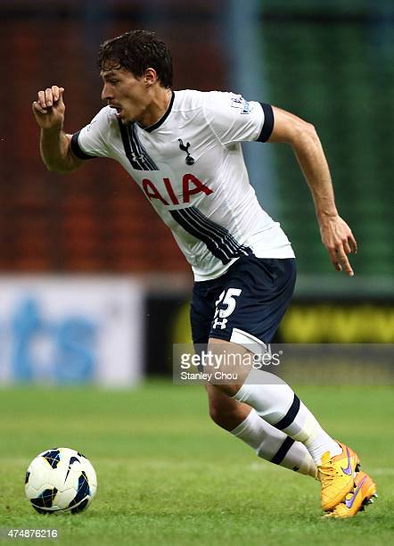 Benjamin Stambouli of Tottenham Hotspur runs with the ball during the preseason friendly match between Malaysia XI and Tottenham Hotspur at Shah Alam...
