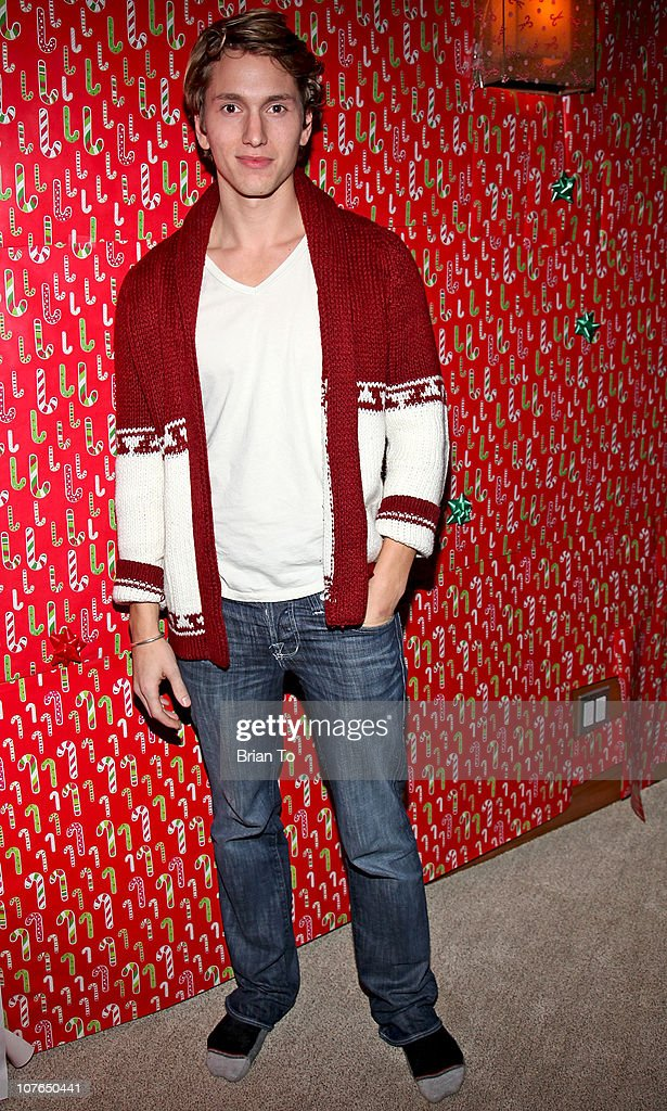 Benjamin Stone attends Tacky Christmas Tree skirt party hosted by James Costa on December 16, 2010 in Los Angeles, California.