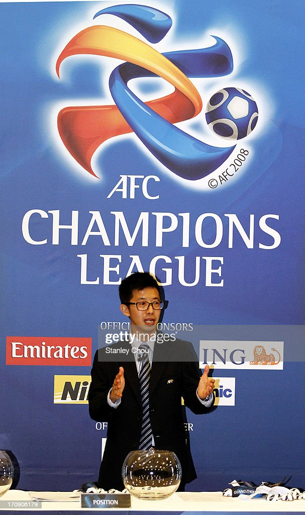 Benjamin Tan, Draw Officer of the Asian Football Confederation, speaks during the 2013 AFC Champions League Quarter Finals Knock-out Stage Draw at the AFC House on June 20, 2013 in Kuala Lumpur, Malaysia.