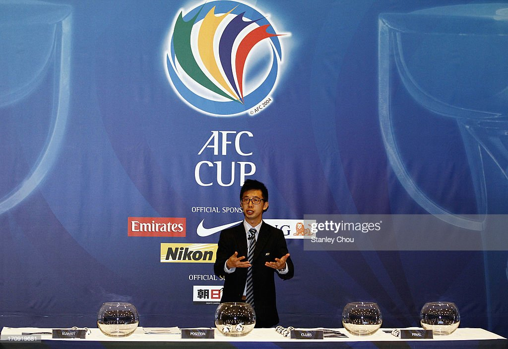 Benjamin Tan, head of the Club Competition of the Asian Football Confederation, speaks during the 2013 AFC Cup Quarter Finals Knock-out Stage Draw at the AFC House on June 20, 2013 in Kuala Lumpur, Malaysia.