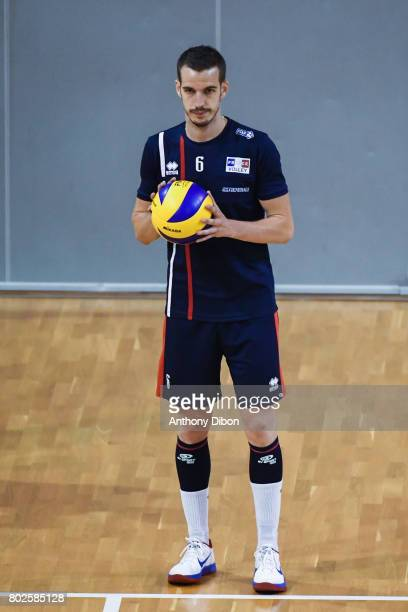 Benjamin Toniutti of France during a training session of the French volleyball national team on June 28 2017 in Vincennes France