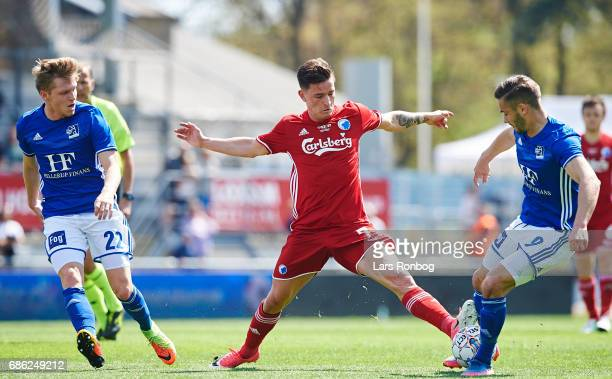 Benjamin Verbic of FC Copenhagen and Lasse Fosgaard of Lyngby BK compete for the ball during the Danish Alka Superliga match between Lyngby BK and FC...