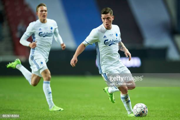Benjamin Verbic of FC Copenhagen controls the ball during the Danish Alka Superliga match between FC Copenhagen and Esbjerg fB at Telia Parken...