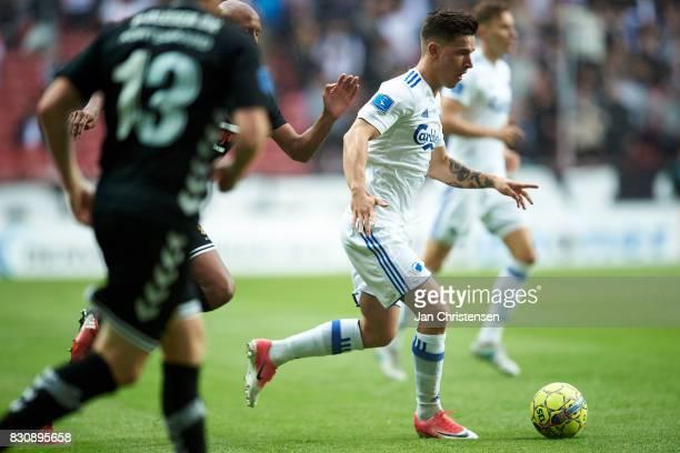 Benjamin Verbic of FC Copenhagen controls the ball during the Danish Alka Superliga match between FC Copenhagen and AC Horsens at Telia Parken...