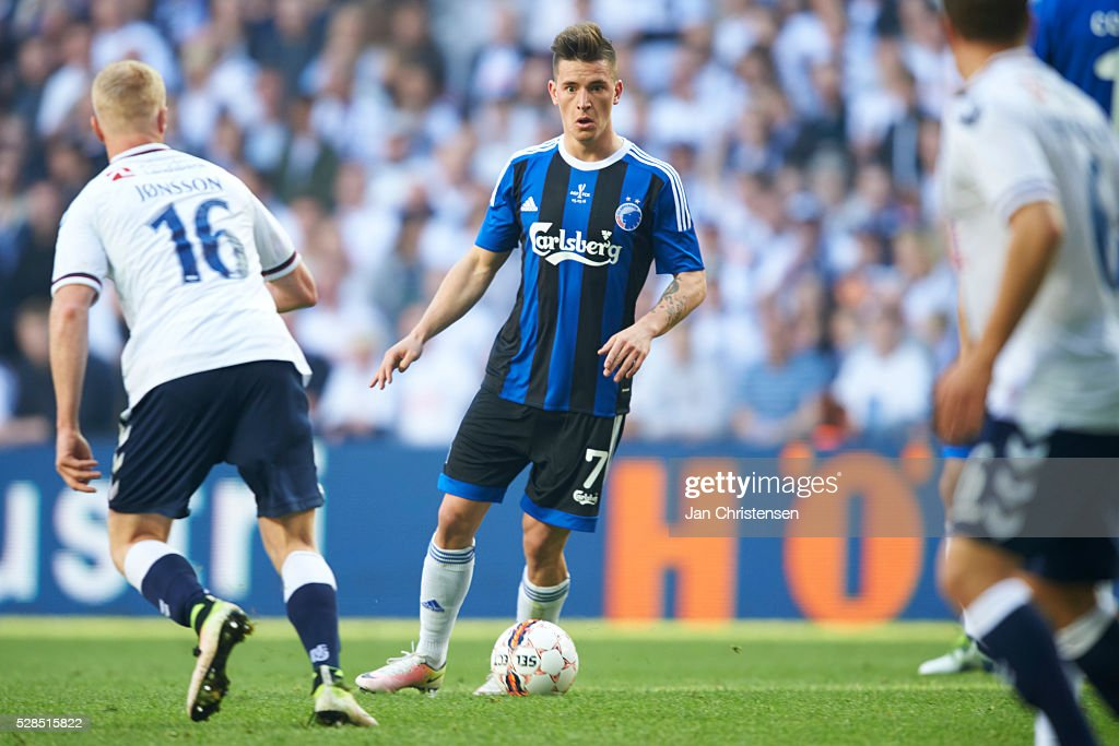 Benjamin Verbic of FC Copenhagen in action during the DBU Pokalen Cup Final match between AGF Arhus and FC Copenhagen at Telia Parken Stadium on May 05, 2016 in Copenhagen, Denmark.