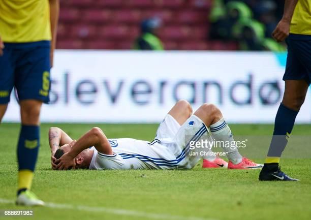 Benjamin Verbic of FC Copenhagen looks dejected after a missed goal during the Danish Cup Final DBU Pokalen match between FC Copenhagen and Brondby...