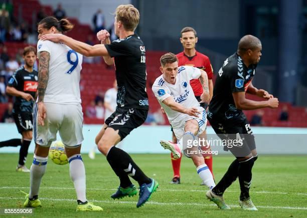 Benjamin Verbic of FC Copenhagen scores the 22 goal during the Danish Alka Superliga match between FC Copenhagen and Sonderjyske at Telia Parken...