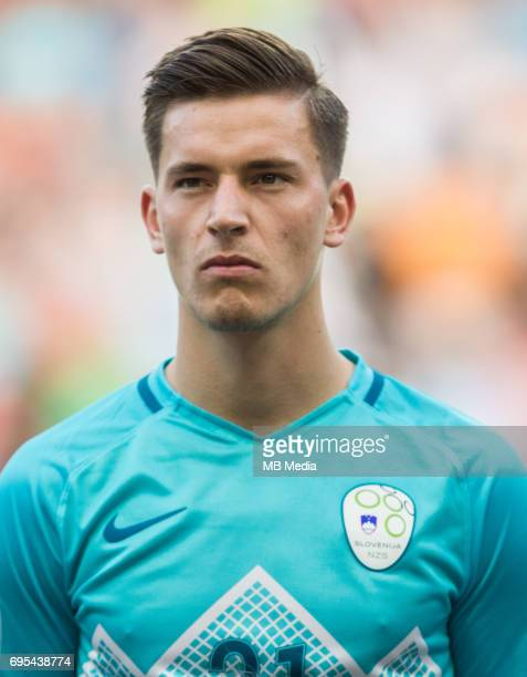 Benjamin Verbic of Slovenia during football match between National teams of Slovenia and Malta in Round of FIFA World Cup Russia 2018 qualifications...