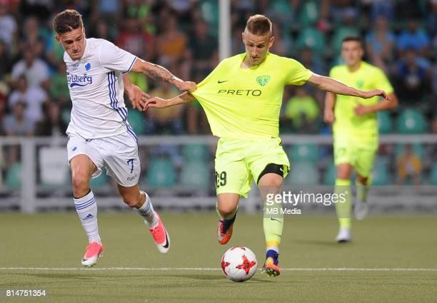 Benjamin Verbic Roland Gerebenits during the UEFA European Champions League Second qualifying round Match 1 match between MSK Zilina FC Copenhagen at...