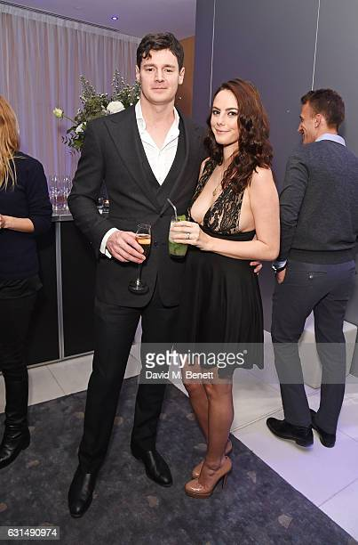Benjamin Walker and Kaya Scodelario attend the opening night reception of the English National Ballet's production of 'Giselle' hosted by St Martins...