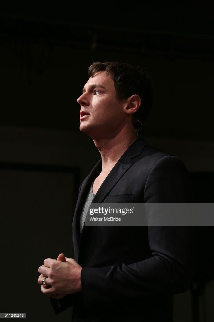 Benjamin Walker during the 'American Psycho' press preview at The New 42nd Street Studios on February 18 2016 in New York City