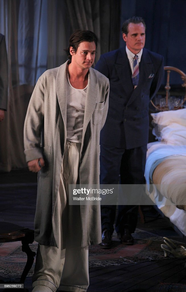 Benjamin Walker Michael Park during the Broadway Opening Night Performance Curtain Call for 'Cat On A Hot Tin Roof' at the Richard Rodgers Theatre in...