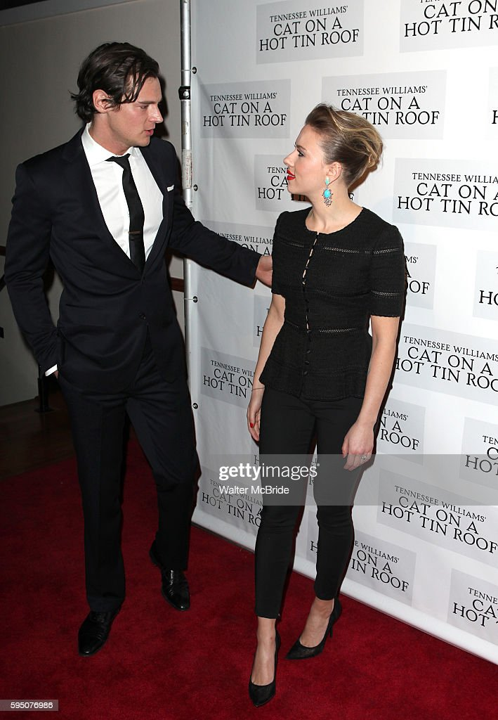Benjamin Walker Scarlett Johansson attending the Broadway Opening Night Performance After Party for 'Cat On A Hot Tin Roof' at The Lighthouse at...