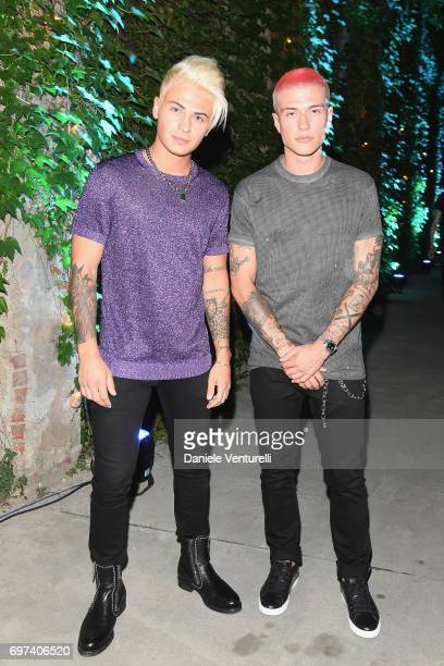 Benji and Fede attend the Dsquared2 Aftershow Party during Milan Men's Fashion Week Spring/Summer 2018 on June 18 2017 in Milan Italy