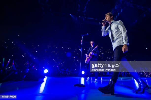 Benji and Fede of Benji Fede Performs at Mediolanum Forum on March 4 2017 in Milan Italy