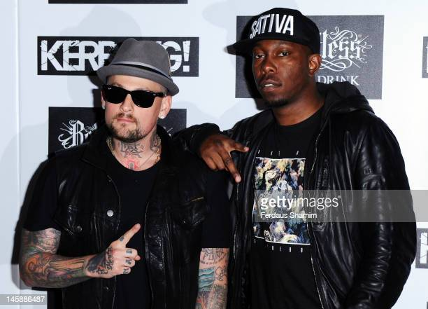 Benji Madden and Dizzee Rascal attend the Kerrang Awards at The Brewery on June 7 2012 in London England