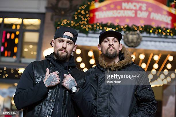Benji Madden and Joel Madden attend the 88th Annual Macy's Thanksgiving Day Parade Rehearsals on November 25 2014 in New York City