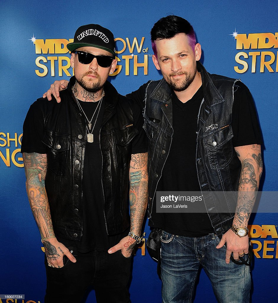 Benji Madden and Joel Madden attend the MDA Labor Day Telethon at CBS Studios on August 8, 2012 in Los Angeles, California.