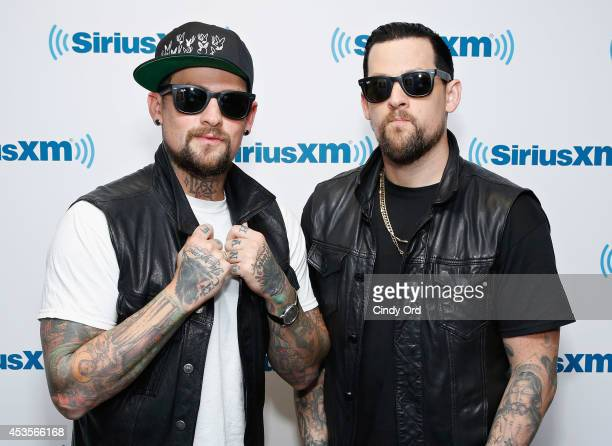 Benji Madden and Joel Madden of The Madden Brothers visit the SiriusXM Studios on August 13 2014 in New York City