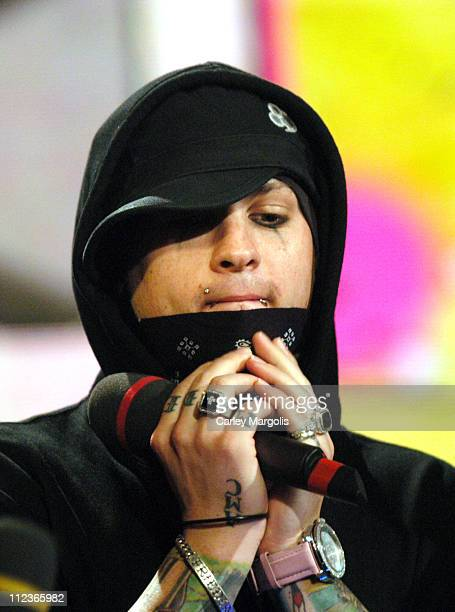 Benji Madden of Good Charlotte during Good Charlotte Visits Fuse's 'Daily Download' September 7 2004 at Fuse Studios in New York City New York United...