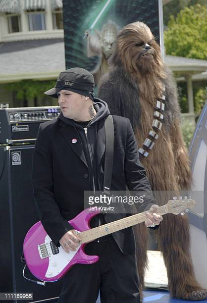 Benji Madden of Good Charlotte with Chewbacca **exclusive**