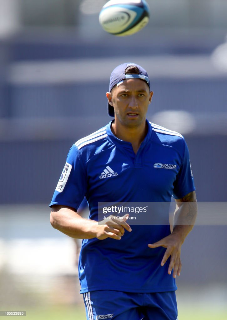 Benji Marshall during a Blues Super Rugby training session at Unitec on January 28, 2014 in Auckland, New Zealand.