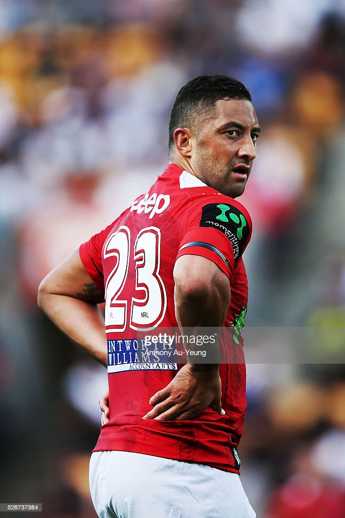 Benji Marshall of the Dragons looks on during the round nine NRL match between the New Zealand Warriors and the St George Illawarra Dragons at Mt Smart Stadium on May 1, 2016 in Auckland, New Zealand.
