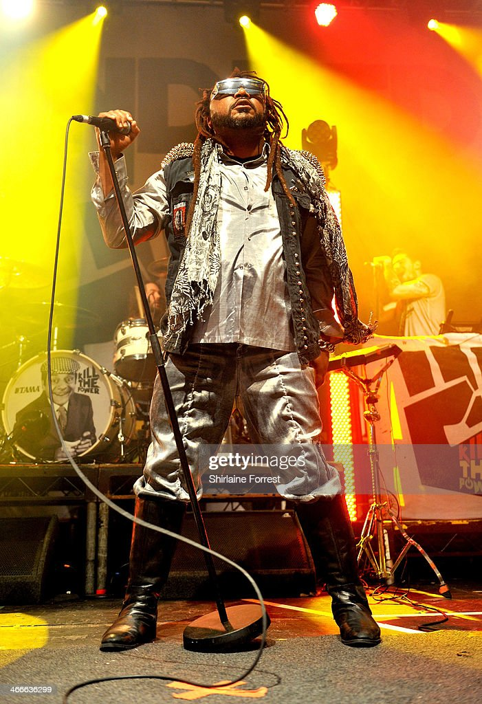 Benji Webbe of Skindred performs at Manchester Academy on February 2, 2014 in Manchester, England.