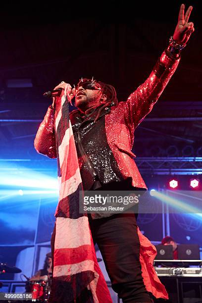 Benji Webbe of Skindred performs at Postbahnhof on December 4 2015 in Berlin Germany