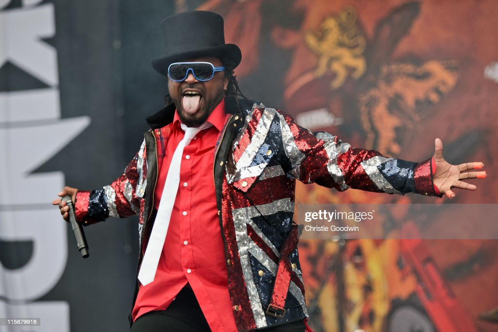 Benji Webbe of Skindred performs on the main stage on Day 2 of Download Festival at Donington Park on June 11, 2011 in Castle Donington, England.