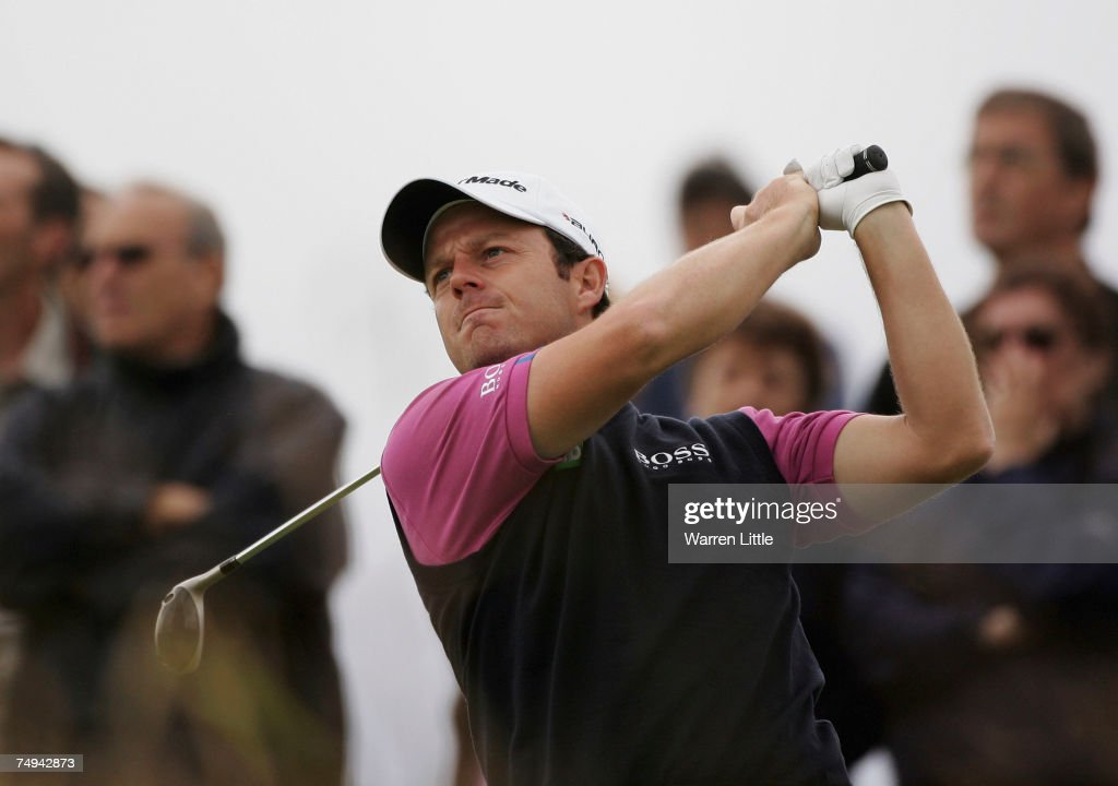 Benn Barham of England tees off on the 10th hole during the first round of The Open de France ALSTOM at the Golf National Golf Club on June 28 2007...