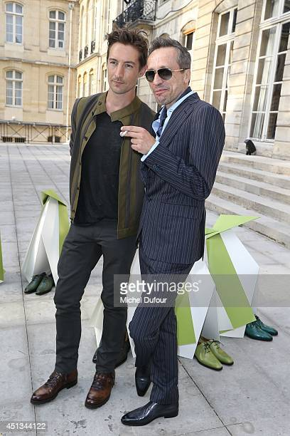 Benn Northover and Michael Wincott attend the Berluti show as part of the Paris Fashion Week Menswear Spring/Summer 2015 on June 27 2014 in Paris...