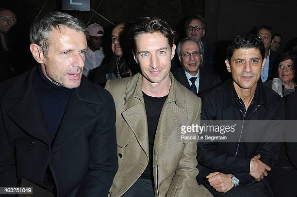 Benn Northover Lambert Wilson and Said Taghmaoui attend the Cerruti Menswear Fall/Winter 20142015 Show as part of Paris Fashion Week on January 17...