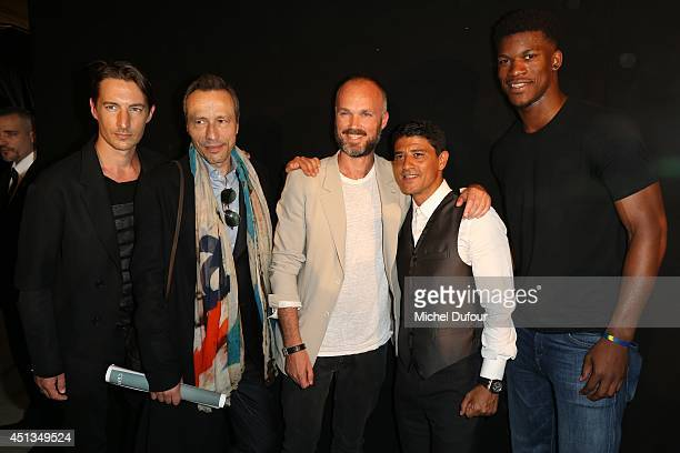 Benn Northover Michael Wincott Aldo Maria Camillo Said Taghmaoui and Jimmy Butler attend the Cerruti show as part of the Paris Fashion Week Menswear...