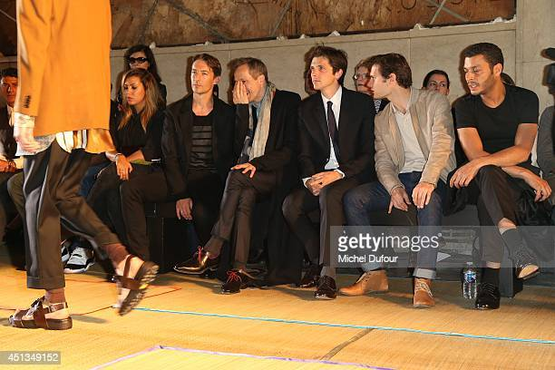 Benn Northover Michael Wincott Raphael Personnaz Hugo Becker and Adel Bencherif attend the Cerruti show as part of the Paris Fashion Week Menswear...