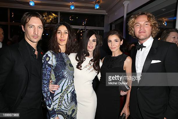Benn Northover Olivia Magnani Paz Vega Clotilde Courau and Peter Dundas attend the Sidaction Gala Dinner 2013 at Pavillon d'Armenonville on January...