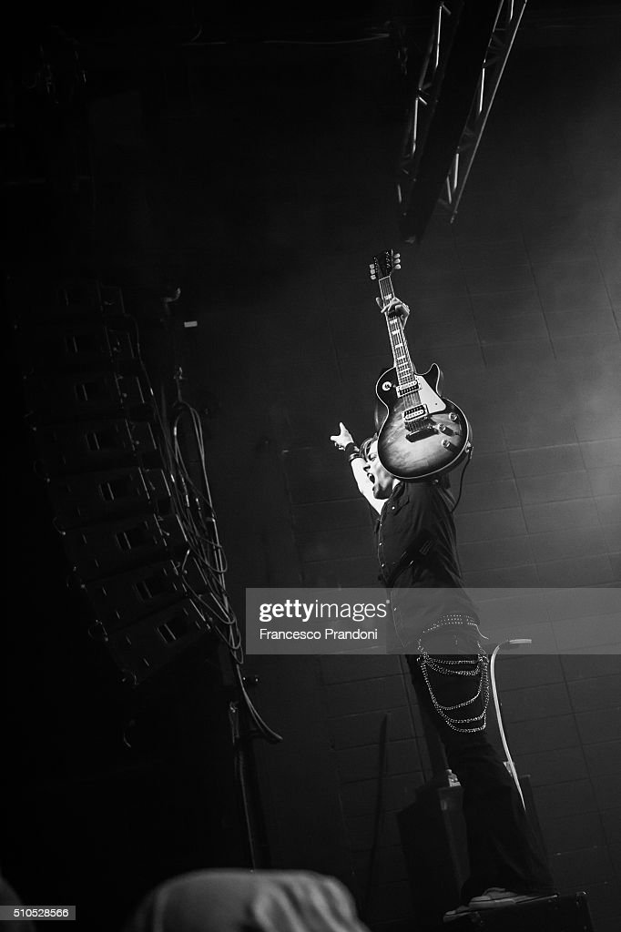 Benn Wells of Black Stone Cherry Perform on February 15, 2016 in Milan, Italy.
