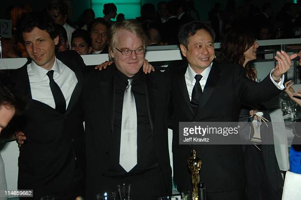 Bennett Miller nominee Best Director for 'Capote' Philip Seymour Hoffman winner Best Actor in a Leading Role for 'Capote' and Ang Lee winner Best...