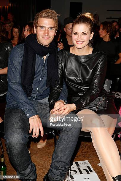 Benni Baarz and Nina Bott attend the Audi Fashion Award 2014 on October 09 2014 in Hamburg Germany