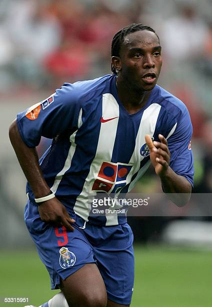 Benni McCarthy of Porto during the LG Amsterdam Tournament friendly match between Boca Juniors and FC Porto at The Amsterdam Arena on July 29 2005 in...