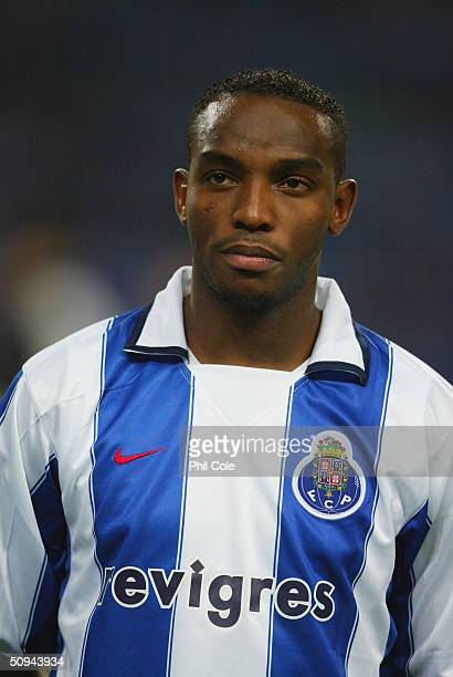 Benni McCarthy of Porto during the UEFA Champions League second round first leg match between Porto and Manchester United at the Estadio Dragao on...