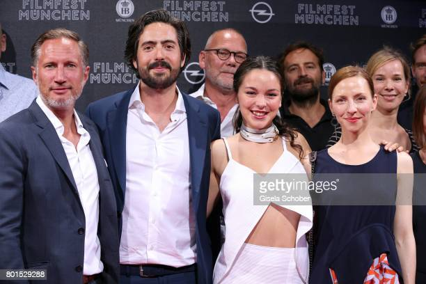 Benno Fuermann Director David Dietl Tijan Marei and Katharina Schuettler attend the premiere of the movie 'Ella's Baby' during the film festival...