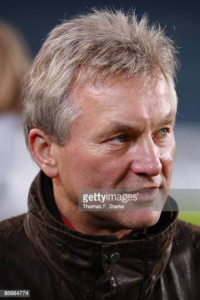Benno Moehlmann looks on prior the Ansgar Brinkmann Farewell Match at the Schueco Arena on March 27 2009 in Bielefeld Germany