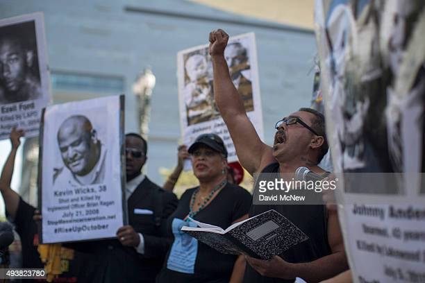 Benny Anderson participates in the ''National Day of Protest to Stop Police Brutality Repression and the Criminalization of a Generation'' in the...